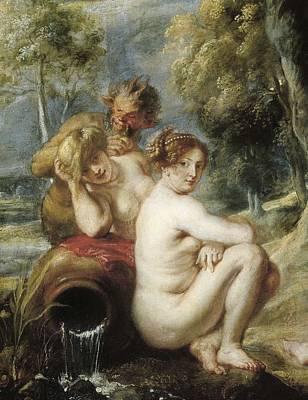 Rubens, Peter Paul 1577-1640. Nymphs Art Print by Everett