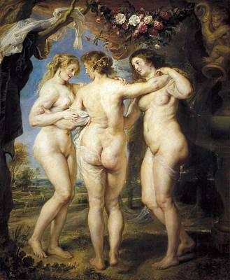 Rubens, Peter Paul 1577-1640. The Three Art Print by Everett