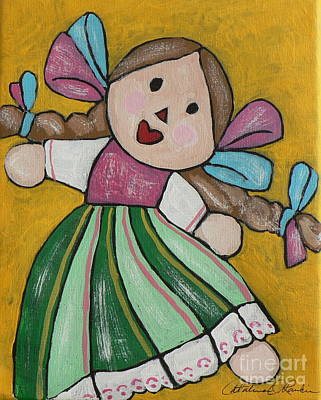 Muneca Painting - Rubia by Catalina Rankin