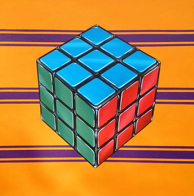 Other Painting - Rubiks by Anthony Mezza