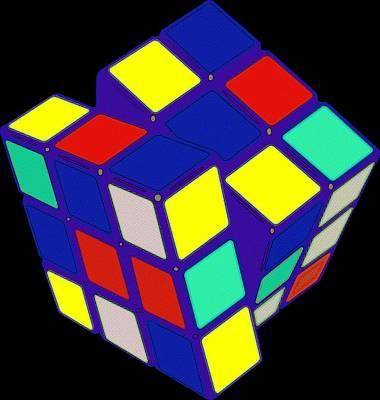 Rubik's Cube Pop Art Print by Florian Rodarte