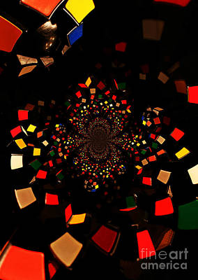 Photograph - Rubik's Explosion by Scott Allison