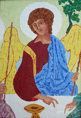Rublev Trinity Painting - Rublev Angel by Phillip Castaldi