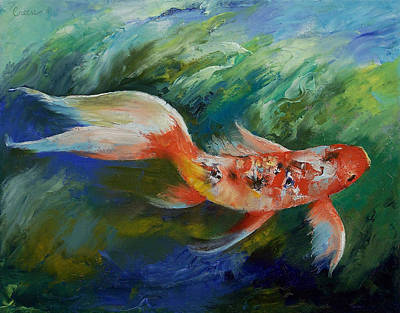 Poisson Painting - Ruby And Sapphire by Michael Creese