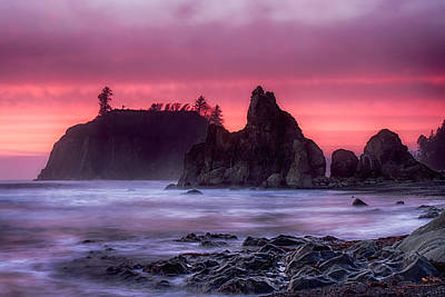 Photograph - Ruby Beach Last Light by Ray Still