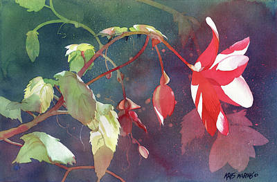 Painting - Ruby Begonia by Kris Parins