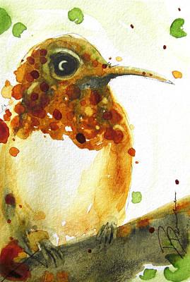Hummingbird Painting - Ruby by Dawn Derman