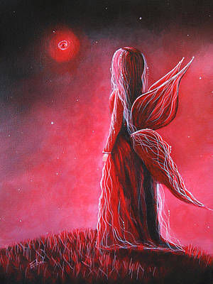 Fairy Artists Painting - Ruby Fairy By Shawna Erback by Shawna Erback