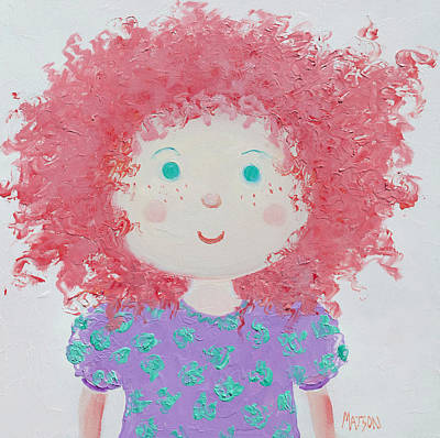 Rag Doll Painting - Ruby by Jan Matson