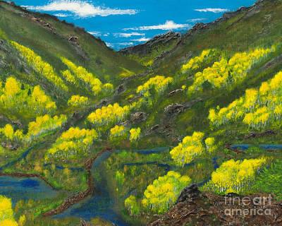 Ruby Mountain Aspen Art Print