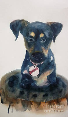 Ruby - Original Sold Art Print by Therese Alcorn