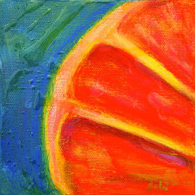 Grapefruit Painting - Ruby Red by Debi Starr
