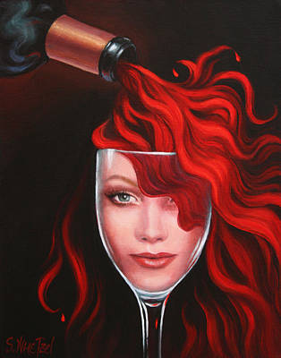 Painting - Ruby Red by Sandi Whetzel