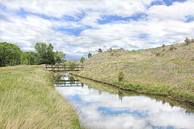 Photograph - Ruby River Bridge Canal Montana by Jennie Marie Schell