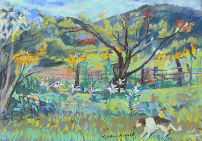 Painting - Ruby Runs Through Under Mountain Farm by Linda Novick