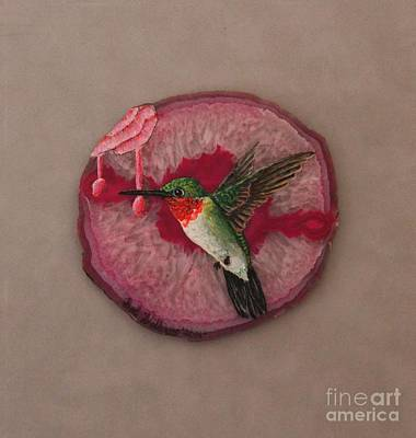 Painting - Ruby Throated Hummer by Bob Williams