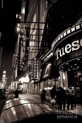 Photograph - Ruby Tuesday's Times Square - New York At Night by Miriam Danar