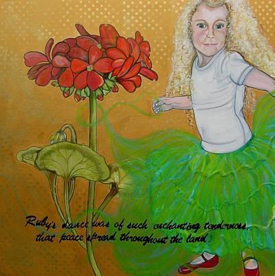 Ruby's Dance Art Print