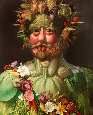 Grotesque Painting - Rudolf II As Vertumnus by Mountain Dreams