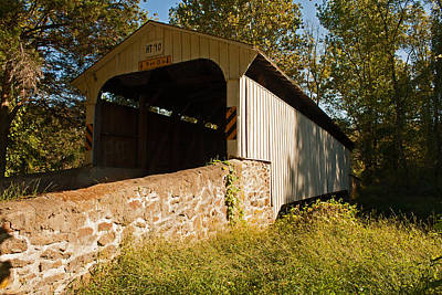 Photograph - Rudolph Arthur Covered Bridge by Michael Porchik