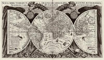 Rudolphine Tables World Map Art Print