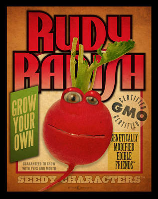 Digital Art - Rudy Radish Seed Pack by Tim Nyberg