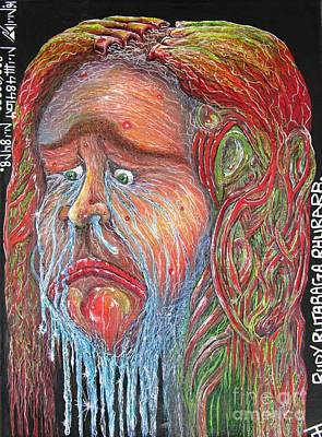 Acrylic Gel Mixed Media - Rudy Rutabaga Rhubarb by John Foss