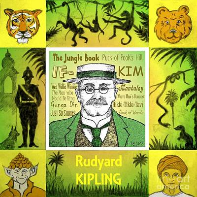Rudyard Kipling Art Print by Paul Helm
