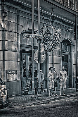 Photograph - Rue Bourbon  by Sennie Pierson