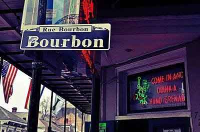 Photograph - Rue Bourbon Street by Jeanne May
