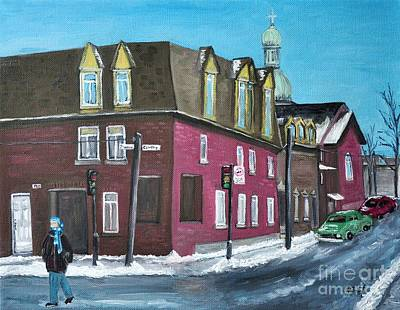 Rue Centre Pte St Charles Art Print by Reb Frost