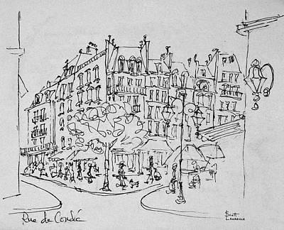Rue De Conde Near Jardin Du Luxembourg Art Print