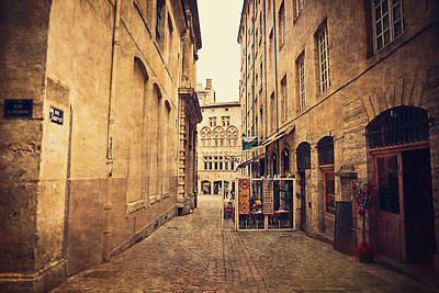Lyon France Photograph - Rue De Gadagne - Lyon by Maria Angelica Maira