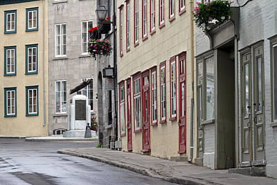 Photograph - Rue De Jardiens In Quebec City by Juergen Roth