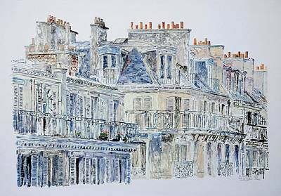 Printmaking Painting - Rue Du Rivoli Paris by Anthony Butera