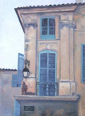 Villa Painting - Rue Espariat Aix-en-provence by Jan Matson