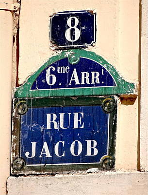 Balzac Photograph - Rue Jacob by Ira Shander