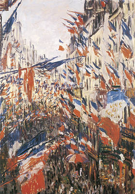 Rue Montorgeuil Decked With Flags Art Print
