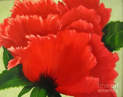 Painting - Ruffled Poppy by Pat Heydlauff