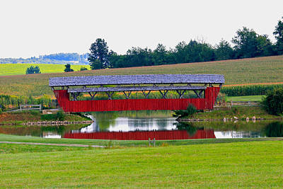 Music Royalty-Free and Rights-Managed Images - Ruffner Covered Bridge by Jack R Perry