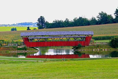 Ruffner Covered Bridge Art Print by Jack R Perry