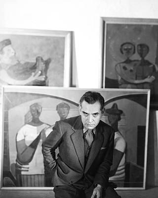 Rufino Tamayo With Paintings Art Print by Horst P. Horst