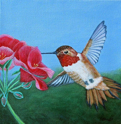 Painting - Rufous Hummingbird by Fran Brooks