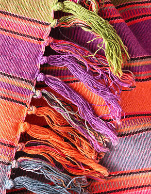 Tapestries Textiles Photograph - Rug Tassels by Tom Gowanlock