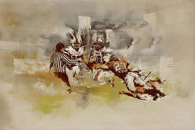 Canadian Heritage Painting - Rugby by Corporate Art Task Force