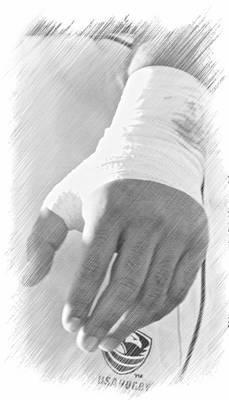 Rugby Hands Print by Evan Premer