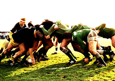 Photograph - Rugby Scrum by Robert  Rodvik