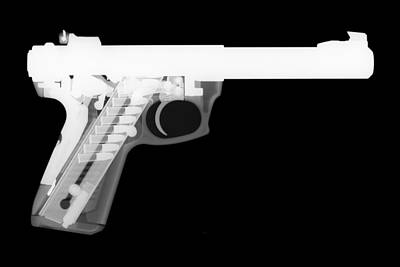357 Photograph - Ruger 22 45 Reverse by Ray Gunz
