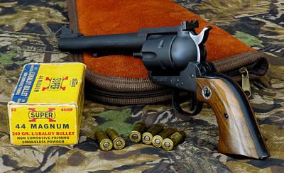 Ruger .44 Magnum Blackhawk Flattop Art Print by Kent Dunning