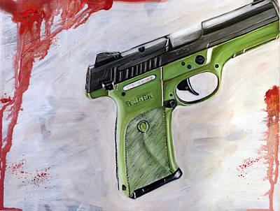 Ruger Painting - Ruger by Sanders Watson